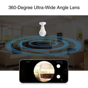 Image 4 - SANNCE 360 graus 960P Câmera IP Sem Fio Lâmpada Olho de peixe Inteligente 1.3MP Panorâmica Câmera de CCTV Sem Fio Wi fi Câmera de Segurança