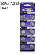10pcs 1.55v Ag12 Alkaline Battery SR43W R43 SR1142 SB-B8 V386 D386 260 S1142E GP386 SG12 LR43 386A LR1144 Button Coin Cell