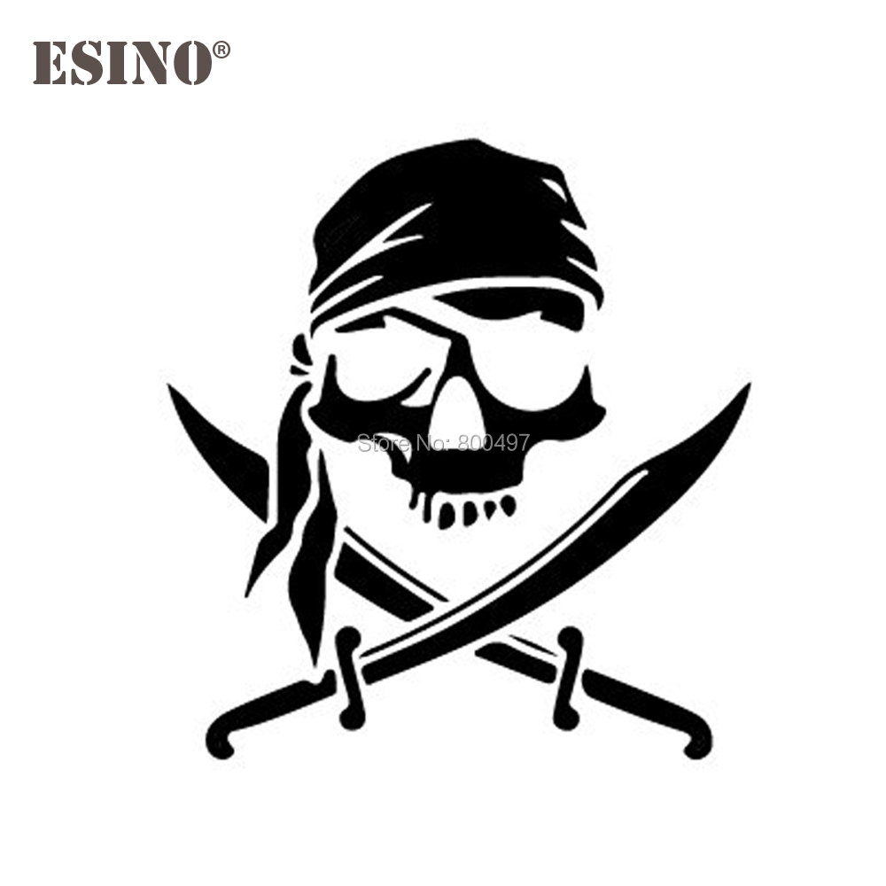 Car Styling New Fashion Style Decoration Pirate Skull Personalized Creative Reflective Stickers Car Whole Body Decal Vinyl
