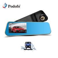Podofo Dual Lens Car Camera Dash Cam Review Mirror Digital Video Recorder Auto Navigator Registrator Camcorder Full HD Dashcam