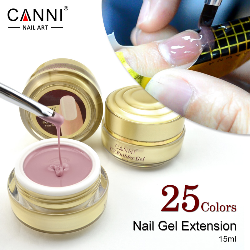 Nail Extensions Gel: #50951 CANNI Builder Gel 15ml Nail Gel 25 Colors Gel For