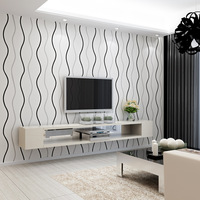 Selling Modern Simple Curve Stripes Non Woven Wallpaper Living Room Bedroom Sofa TV Background Wallpaper Explosion