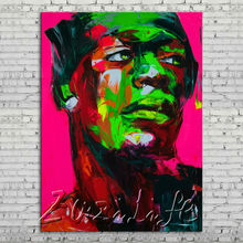 Palette knife portrait Face Oil painting Character figure canvas Hand painted Francoise Nielly wall Art picture 16