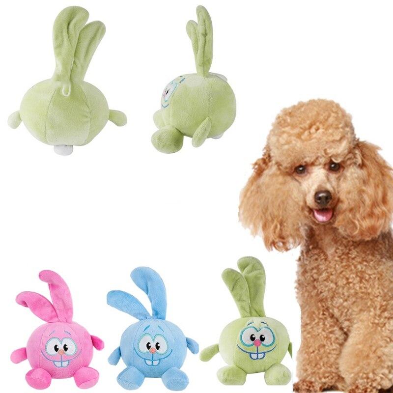 Dog Puppy Pet Ball Shape Rabbit Stuffed Animal Sound Plush Toys