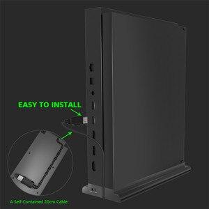 Image 4 - Için microsoft xbox One X Konsolu X one X Oyun Konsolu Soğutma Fanı dikey stant 3 USB 2.0 Portlu Soğutucu