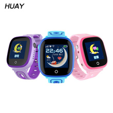 1pcs 2018 New GPS Tracker Watch For Kids Positioning Baby Safe Smart Watches SOS Call Location Anti-lost waterproof clock DF31G