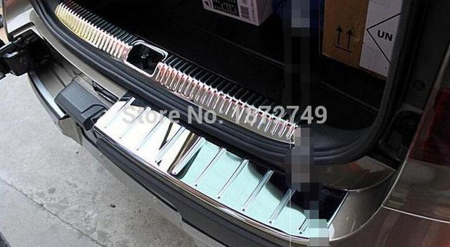 Fit For Skoda Yeti 2014 2015 Stainless steel Inner+Outside Rear Bumper Protector Sill Trunk Tread Plate Trim 3PCS
