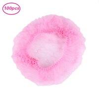 Elecool/Лидер продаж, 100 шт./1 комплект, розовая одноразовая шапочка для купания, для семейного использования, медицинская пищевая нетканый мате...