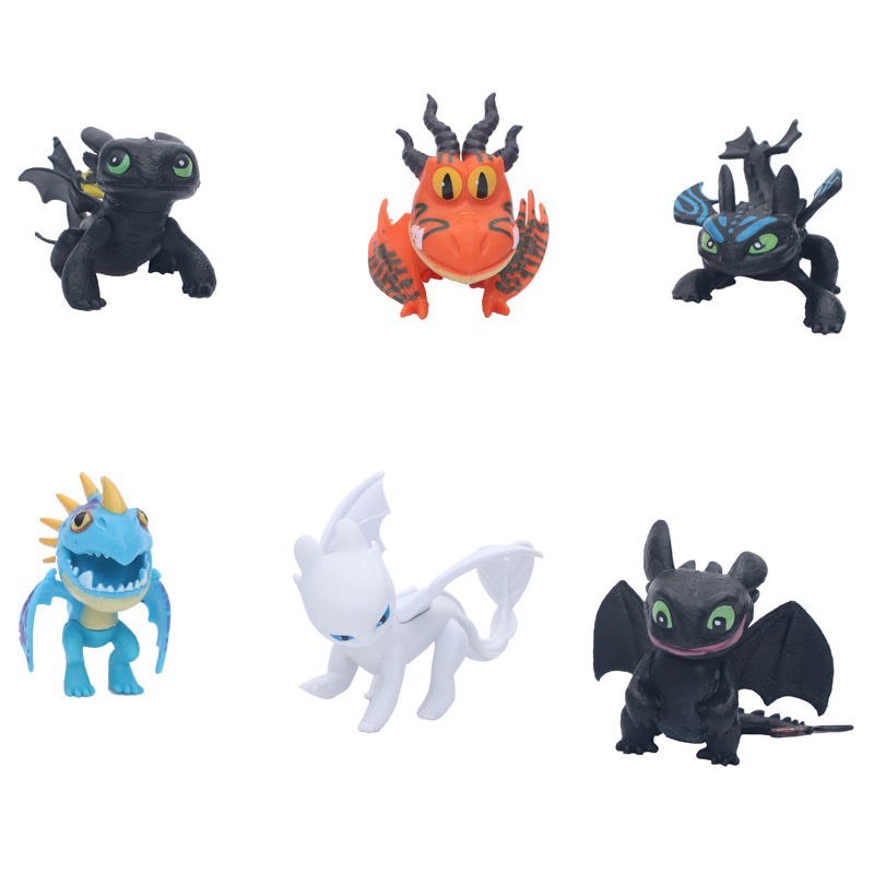 6Pcs Dragon Toothless Action Figure Light Fury Toothless Toys For Children's Birthday Gifts