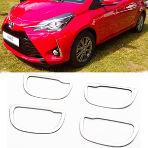 Image 2 - JY 4pcs SUS304 Stainless Steel Interior Inner Handle Trims Car Styling Cover for Toyota Vitz Yaris Hatchback 2017 Facelift