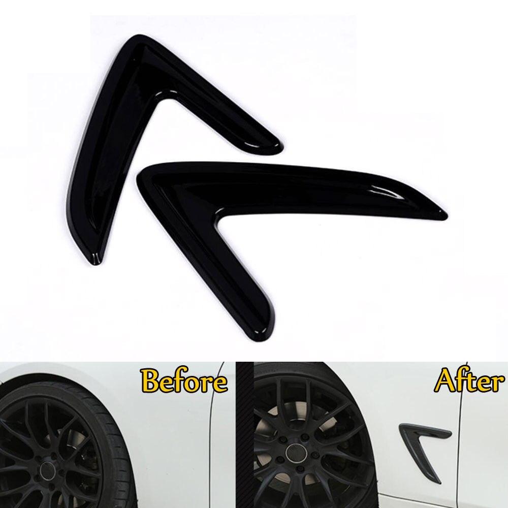 Pour BMW 3 Série F30 F35 2013-17 2 pièces Chrome Side Wing Fender Air Débit D'admission Couvercle De Ventilation garni Lunette Décoration Accessoreis