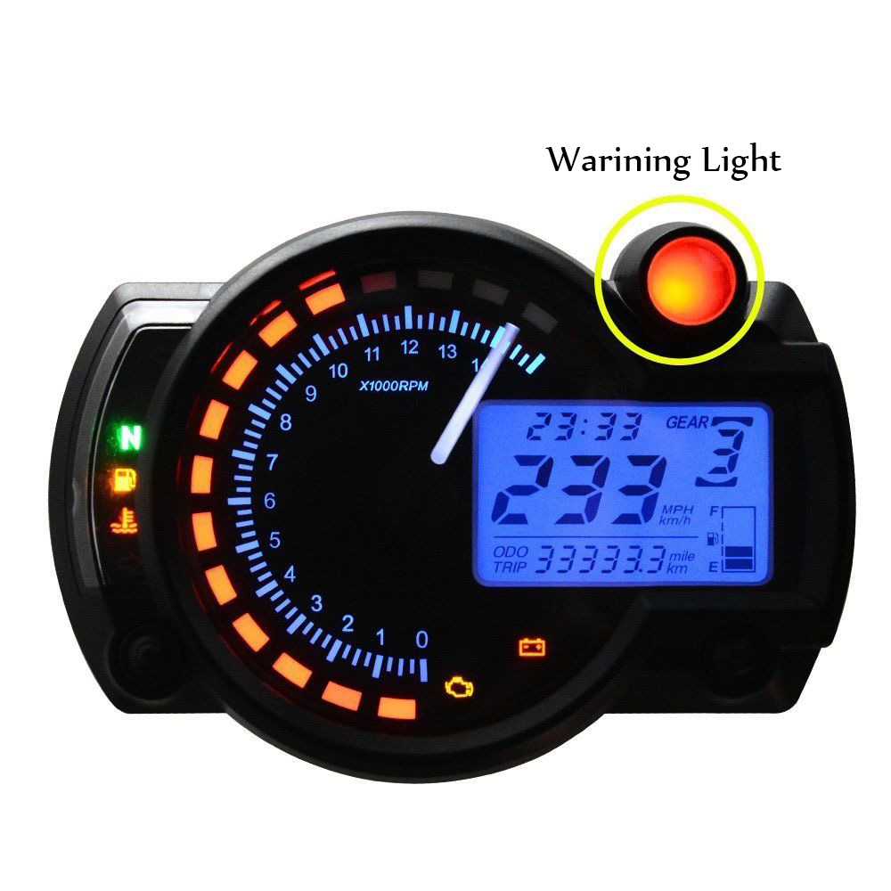 Universal Motorcycle Digital Tachometer Tacho Gauge Speedometer Gauge with LED Backlight Motorbike Instrument Accessories for honda cbr250 mc22 speedometer tachometer tacho gauge instruments