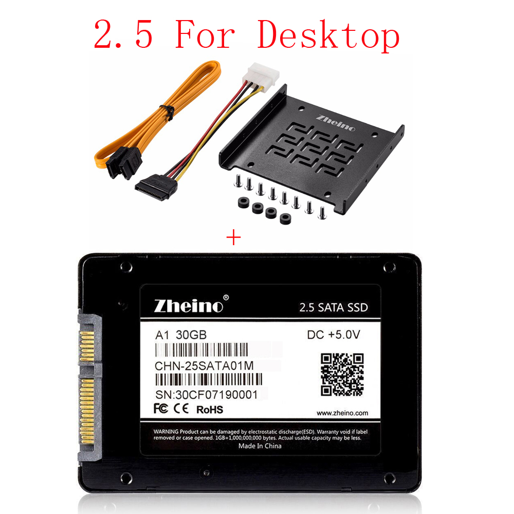 Zheino 2.5 SATA SSD 30GB 60GB 120GB 240GB For Desktop 2.5 To 3.5 SSD For Any PC Tower Case Aluminum Mounting Adaptor Bracket ipod video 30gb 60gb 80gb lcd screen original