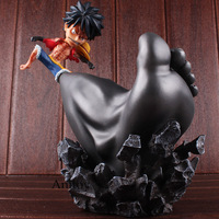 Figure One Piece Luffy Straw Hat Mokey D Luffy figurine Strawhat Gomu Gomu no Gigant Stamp Gear Third Ver. One Piece Toys 25cm