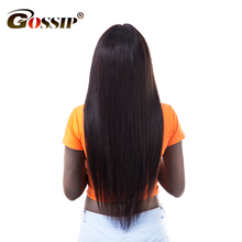 Lace Front Human Hair Wigs For Black Women 150% Density Peruvian Hair Wigs Gossip Straight Lace Frontal Wig Non Remy
