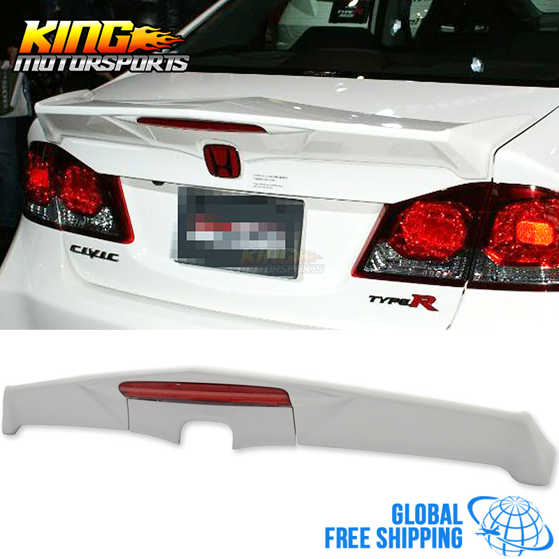 Fit 06-11 Honda Civic 4DR Sedan ABS Rear Window Roof Vent Visor Spoiler Wing
