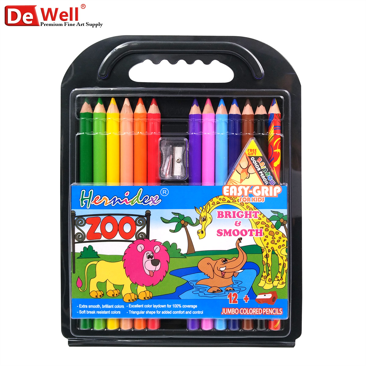 Childrens Super Jumbo Colouring Book And 20 Colouring Pencils Set