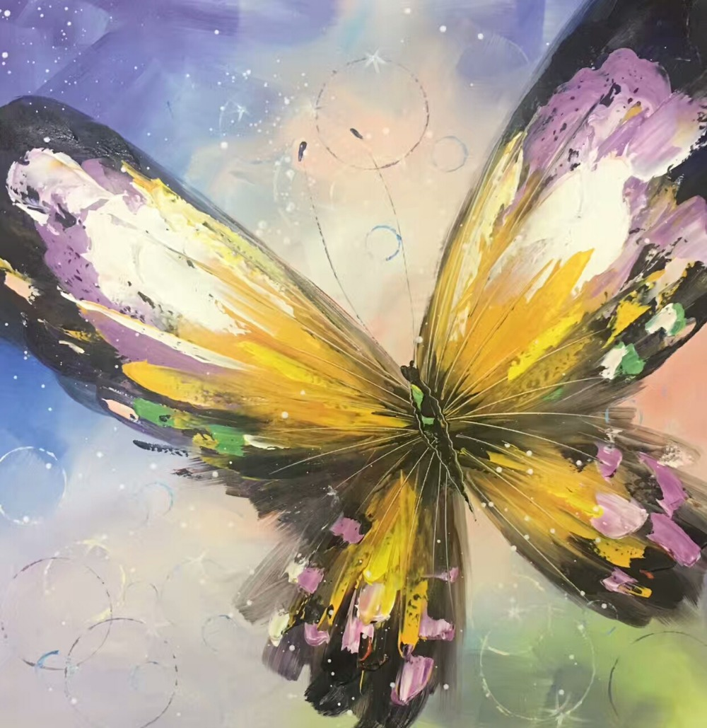 Colourful Butterfly Canvas Painting Hand painted Modern ...