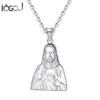 Iogou Мода стерлингового серебра 925 Иисус Товары для собак Для мужчин Для женщин Подвески Юбилей Христос Шарм Подвески хип хоп красивые украше