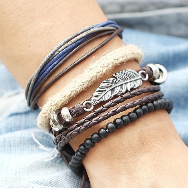 Fashion Boho Leather Bracelet