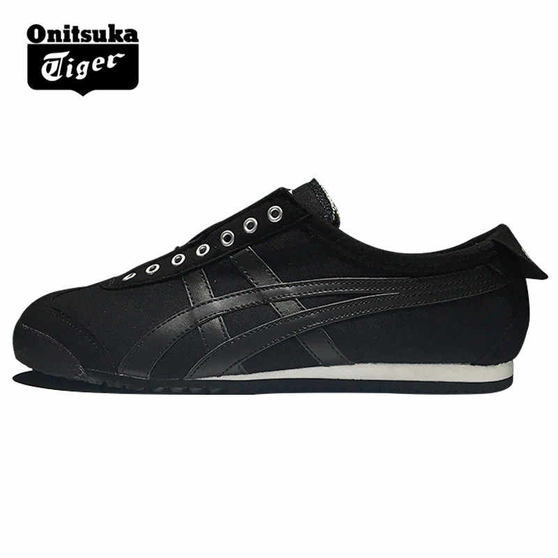 big sale 01ace ebb5e ONITSUKA TIGER Women Men Canvas Shoes Low Level Light Weight Hard-Wearing  Daily Travel Street Black Sneakers Badminton Shoes