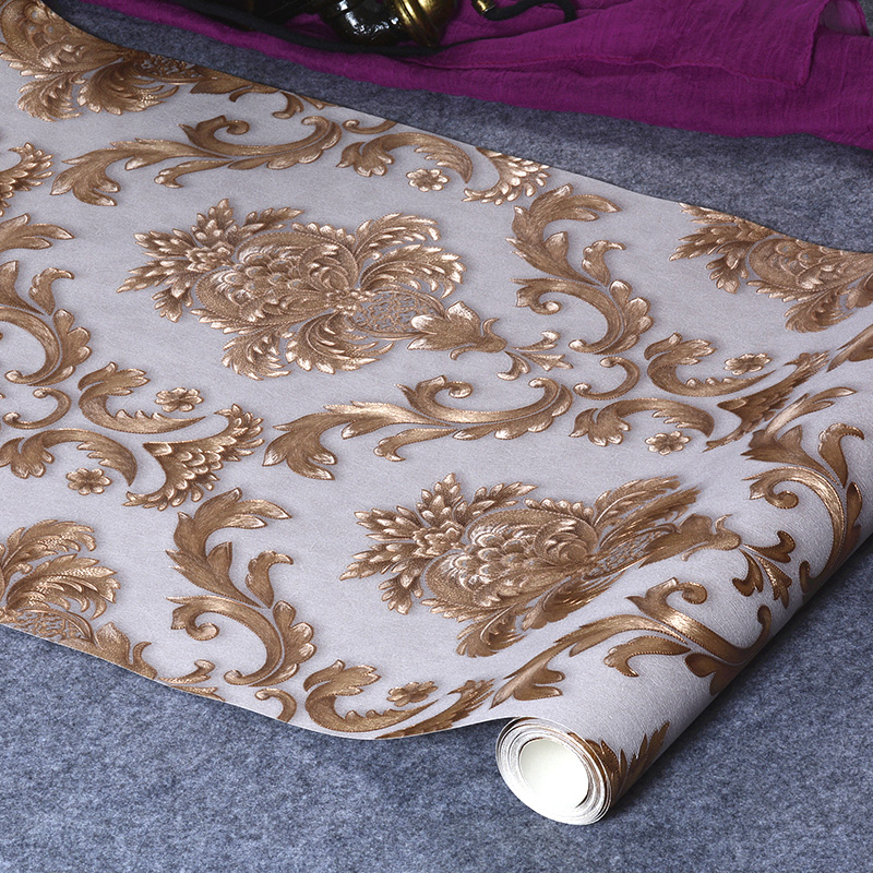 beibehang Damascus decoration papel de parede 3D wallpaper for walls 3d flower wall paper mural wallpaper for living room все цены