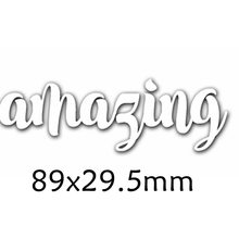 Amazing Enhlish Words Metal Cutting Dies DIY Scrapbooking Embossing Paper Cards Making Crafts Supplies New 2019 Diecut
