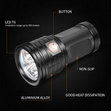 IPX5 XM-L6 Powerful Waterproof LED Flashlight Torch Portable Camping Lamp Lights Lanternas Self Defense Tactical Flashlight convoy l6 cree flashlight