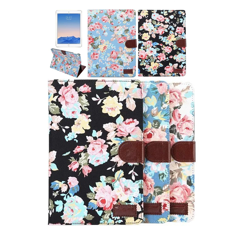 Flower Printing Pro 9 7 PU Leather Smart Cover Table Accessories Case For Apple iPad Pro