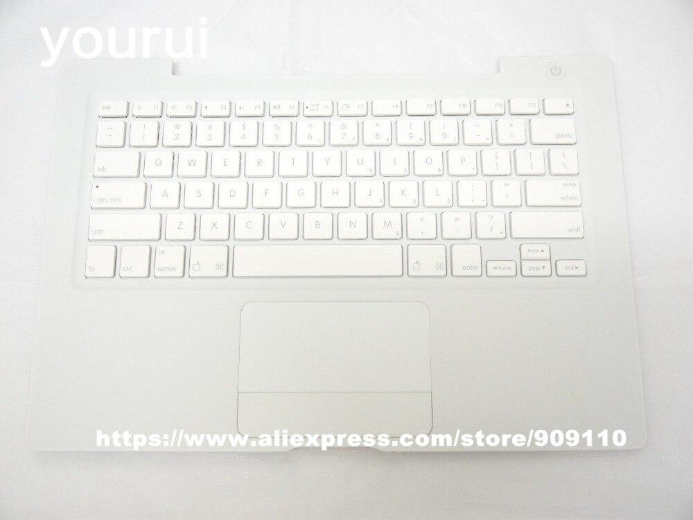 Yourui 90%-95% Новый США Стандартный Топ Дело Упор для рук с клавиатура с трекпадом для MacBook 13 A1181 белый и черный