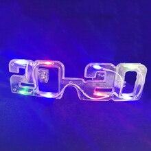 Мигающие вечерние светодиодный светильник очки новогодние очки для рождества, дня рождения, Хэллоуина вечерние украшения светящиеся очки