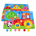 BOHS Pegged Color Matching Board Wooden Children Toy Four Options