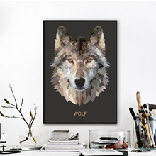 Modern Mosaic Wolf Art Print Painting Poster, Animal Wall Pictures For Home Decoration, Hogar decor