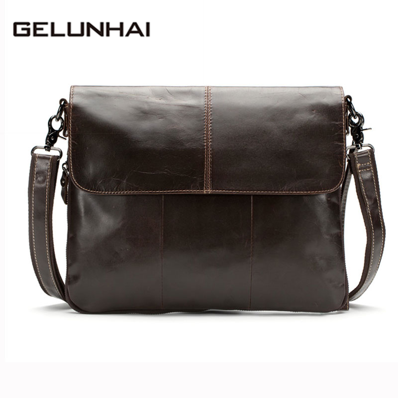 2017 Rushed Polyester Flap Button Genuine Leather Men Bags Men's Crossbody Bag New Male Messenger Casual Shoulder Handbag Tote tuguan men canvas satchels bags shoulder bag crossbody bags for teenage boys designer casual male messenger flap bag black