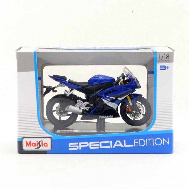 New Miniature Maisto 1:18 Scale Blue YAMAHA YZF-R6 Motorcycle Diecast Model Toys