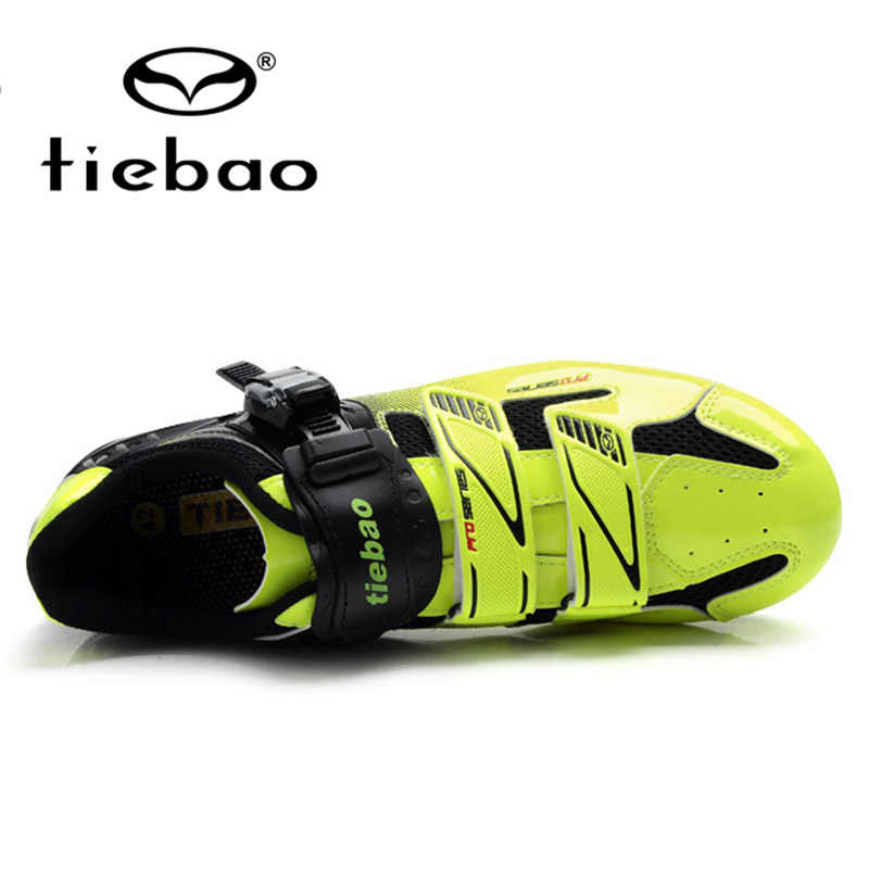TIEBAO Professional MTB Cycling Shoes Nylon-fibreglass Sole Breathable Bicycle Mountain Bike Shoes Men Women Self-locking Shoes