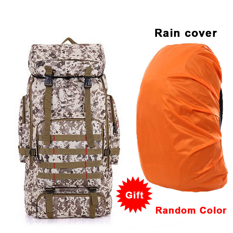 75L grand sac à dos tactique cadre interne escalade sac en plein air militaire Molle sac tactique randonnée Camping sacs avec couverture de pluie
