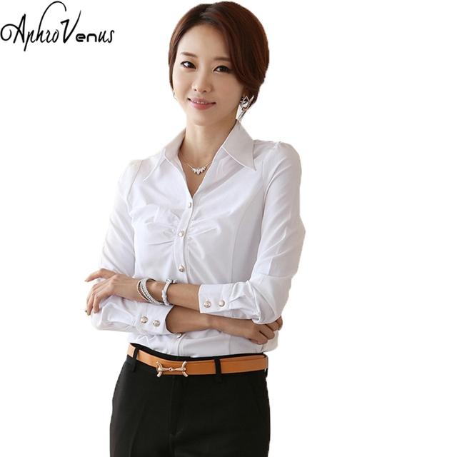 28c6dbf6ce2 Women Blouse And Tops White Blouse Office Lady Shirt For Work Spring Summer Plus  Size 5xl Female Blusas Kimono Tops Blouse 2018