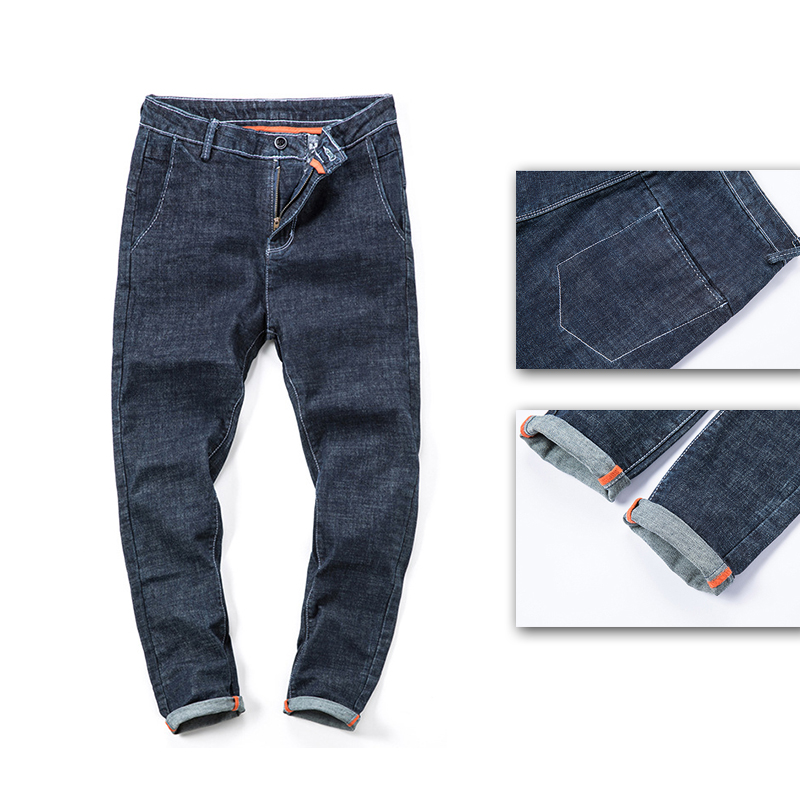 Solide Haute De Nouveaux Jeans Pcs Occasionnels 1 Couleur Élastique Hommes Pantalons wC0avq5