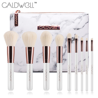 CALDWELL 9pcs Professional Makeup Brushes Set With PU Bag High Quality Synthetic Goat Hair Makeup Tools