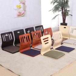(4 teile/los) Japanische Beinlosen Stuhl Weiß Finish Stoff Kissen Sitz Boden Sitz FurnitureLiving Zimmer Tatami Zaisu Stuhl Design