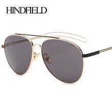 HINDFIELD Moda Steampunk Gafas de Sol Mujeres Ronda Diseñador de la Marca Gafas Retro Vintage Mujer gafas de sol mujer