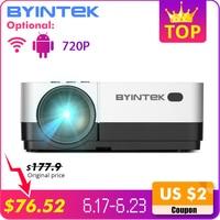 BYINTEK SKY K7 1280x720 светодиодный мини микро Портативный видео HD проектор с HDMI USB для игры кино 1080 P кинотеатр домашний кинотеатр