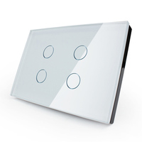 Touch Switch Black And White Pearl Crystal Glass Panel Livolo Switch Wall Switch UK Standard Digital