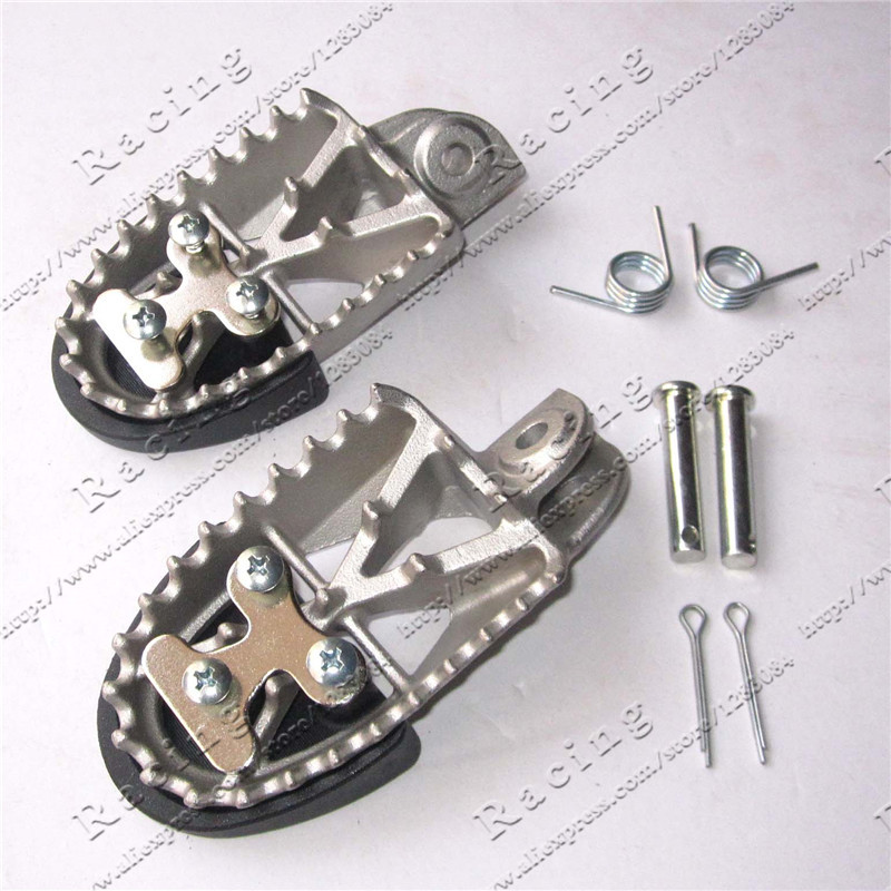 High Quality Stainless Steel Foot Rests Foot Pegs For Dirt Bike Pit Bike MX Motorcross