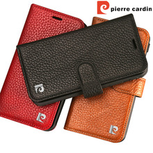 Pierre Cardin Genuine Leather For Apple iPhone X Phone Wallet Flip Stand Card Case Cover iPhoneX Free Shipping