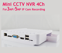 CCTV MIni IP NVR 4 Channel For IP Camera 3mp 5mp Full HD Security NVRs IP