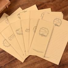 Simple Literature Small Fresh European Style Kraft Paper 6 letter paper + 3 envelopes Temperament Romance Love Letter