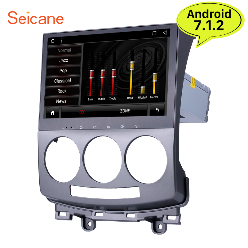 Seicane Android 7.1 9'' 2din Car Radio Bluetooth GPS 8 core 32G multimedia Player for 2005 2006 2007 2008 2009 2010 Old Mazda 5 цена