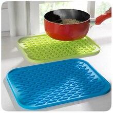 Нескользящий термостойкий Коврик силиконовый подстилка горшка держатель горячий коврик стол силиконовый коврик для кухни, принадлежности случайный цвет